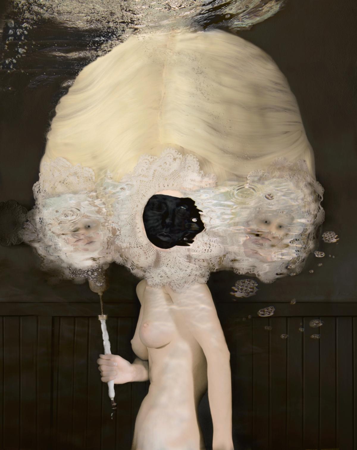 Kunst: La jeune Fille, la Mort et le Temps van kunstenaar dindi .