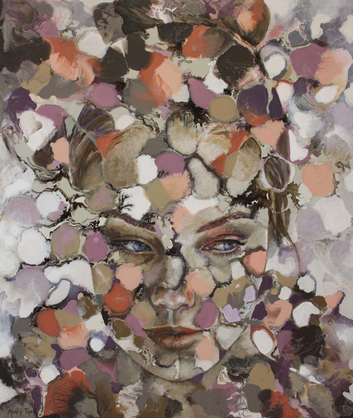 Kunst: La penseuse van kunstenaar Marly Freij(portretten)