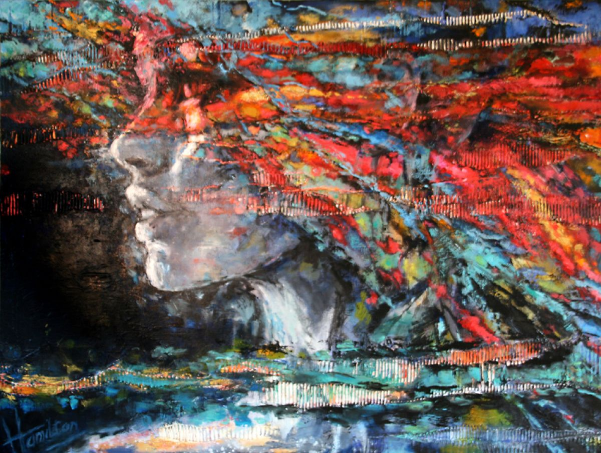 Kunst: La vie est Belle van kunstenaar Evelyn Hamilton