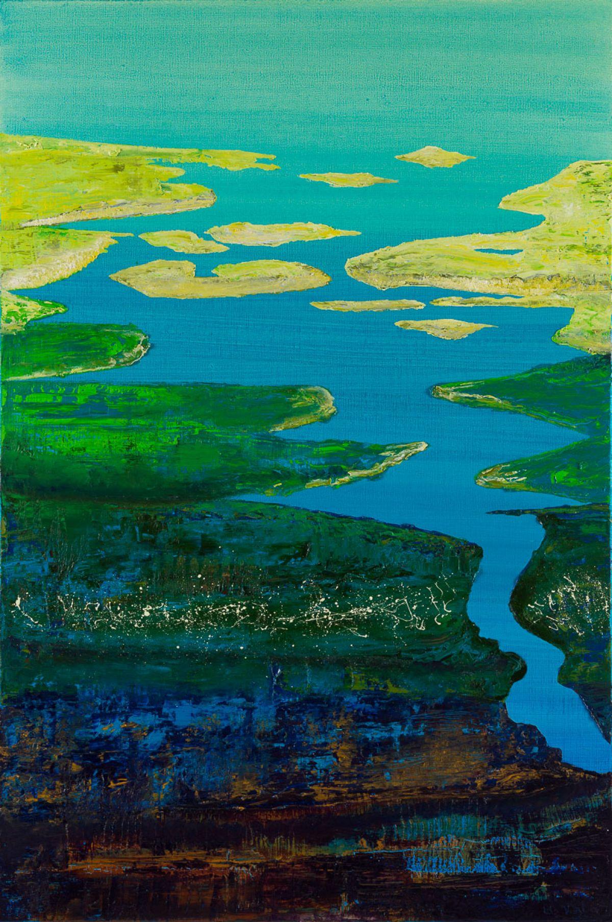 Kunst: Laagland VI – element water van kunstenaar Els Vegter
