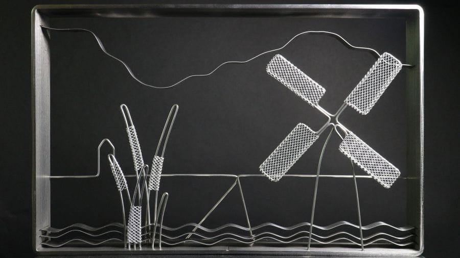 Kunst: Landscape Nieuwkoop van kunstenaar Bert Verboon