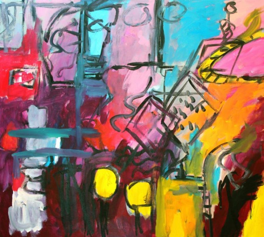 Kunst: Largo 24 van kunstenaar Engelina Zandstra