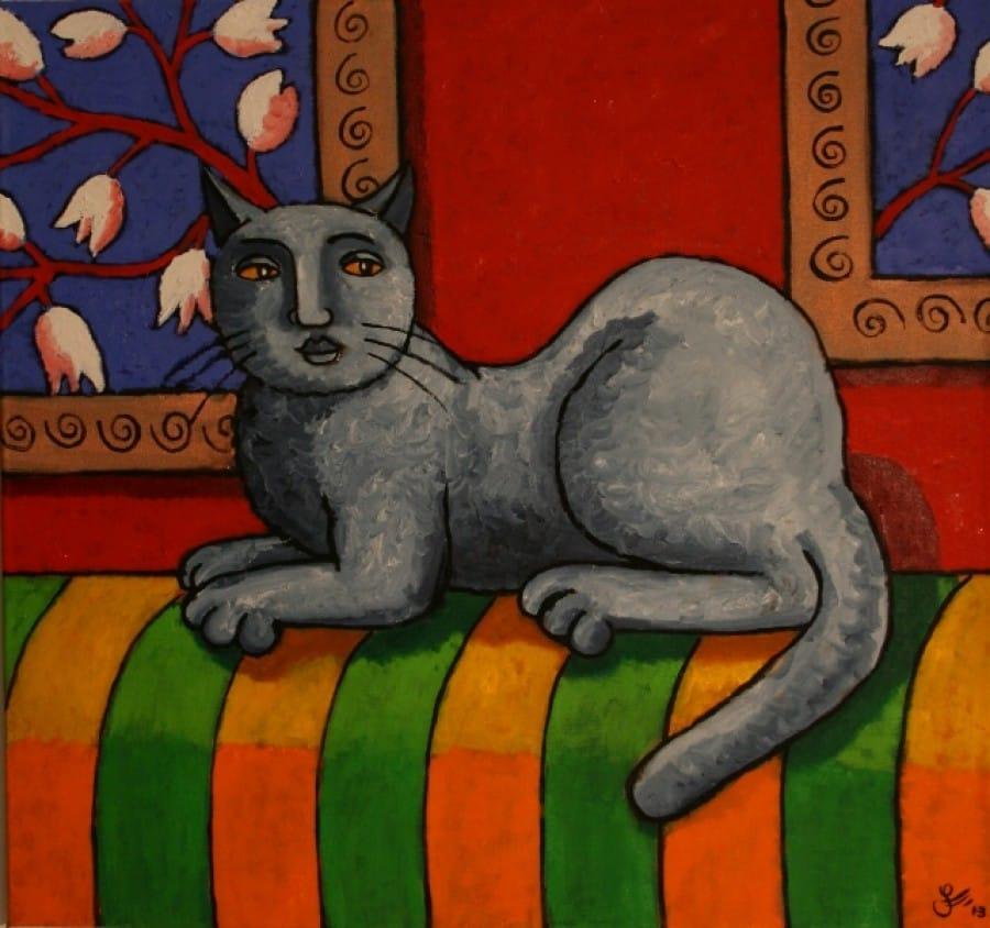 Kunst: Last of the gallery cats van kunstenaar Jacques Tange