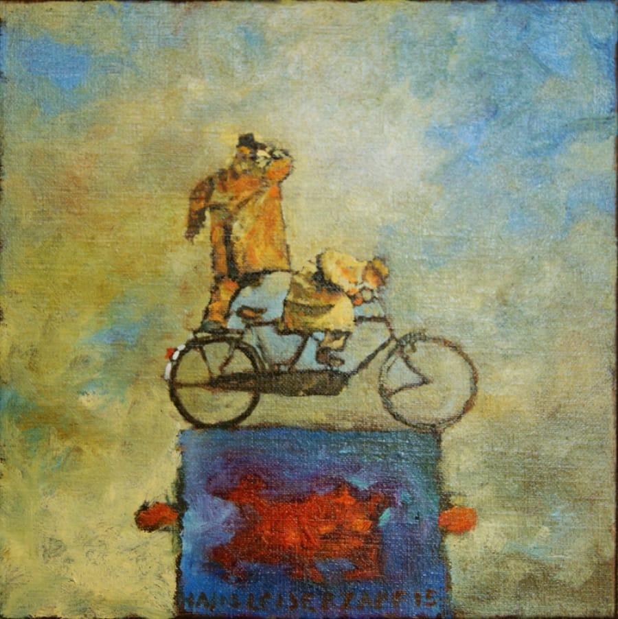 Kunst: Le president de la republique van kunstenaar Hans Leijerzapf