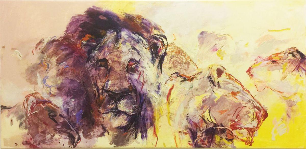 Kunst: Leeuwen van kunstenaar Jan van Lokhorst
