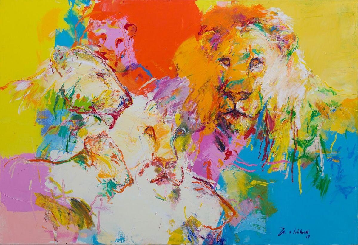 Kunst: Leeuwen (LE15) van kunstenaar Jan van Lokhorst