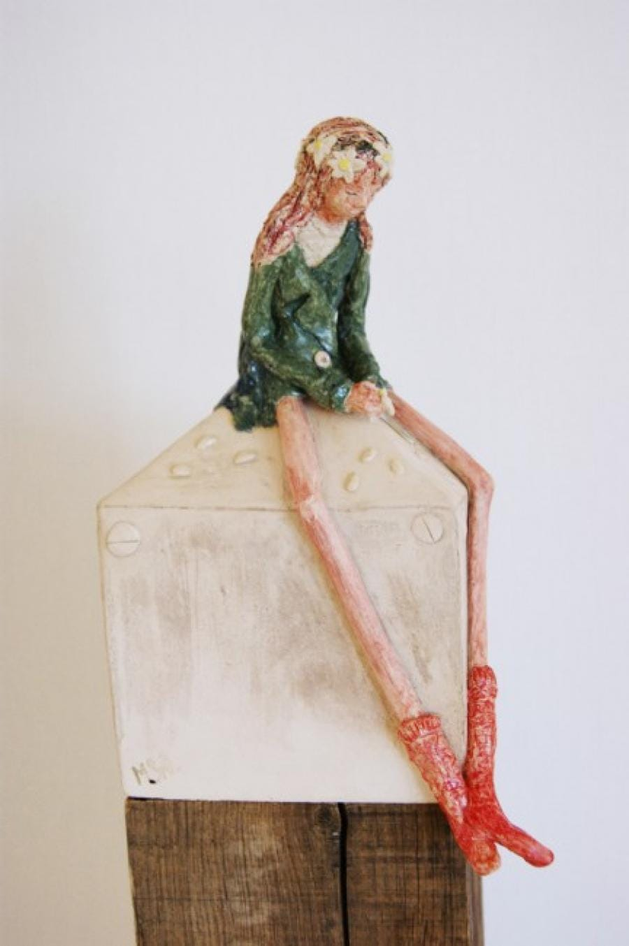 Kunst: Lente met madeliefjes van kunstenaar Marja Verkerk-Smit