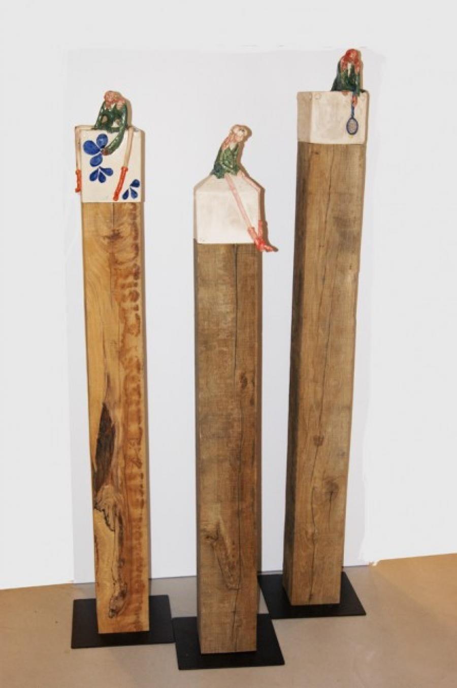 Kunst: Lente op meerpalen van kunstenaar Marja Verkerk-Smit