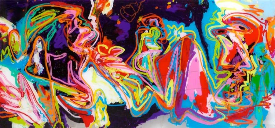 Kunst: Les nuits de la Claire lune van kunstenaar Jan van Lokhorst
