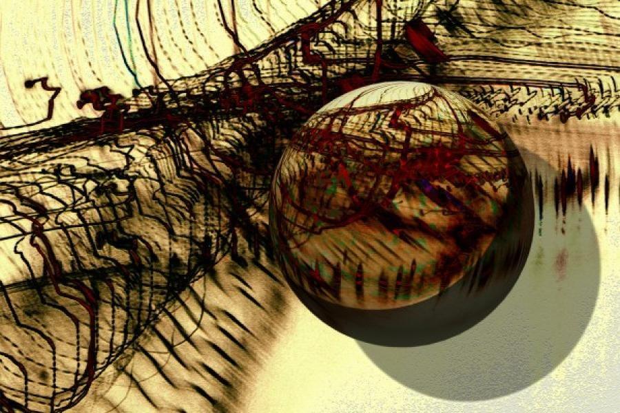 Kunst: Lichtbal van kunstenaar Pimm van Mourik