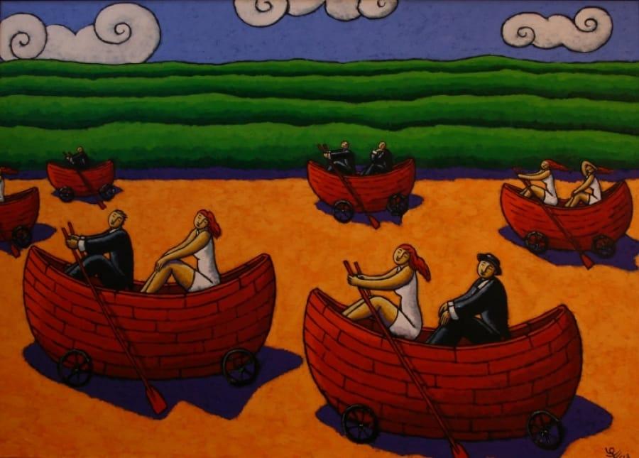 Kunst: Life boats van kunstenaar Jacques Tange