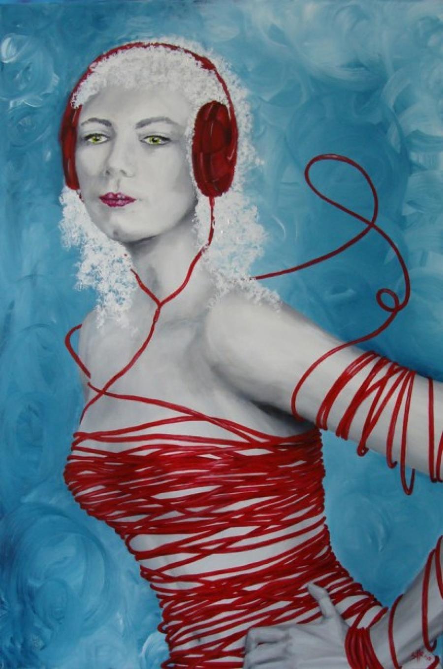 Kunst: Listen alone van kunstenaar Tamara Sille