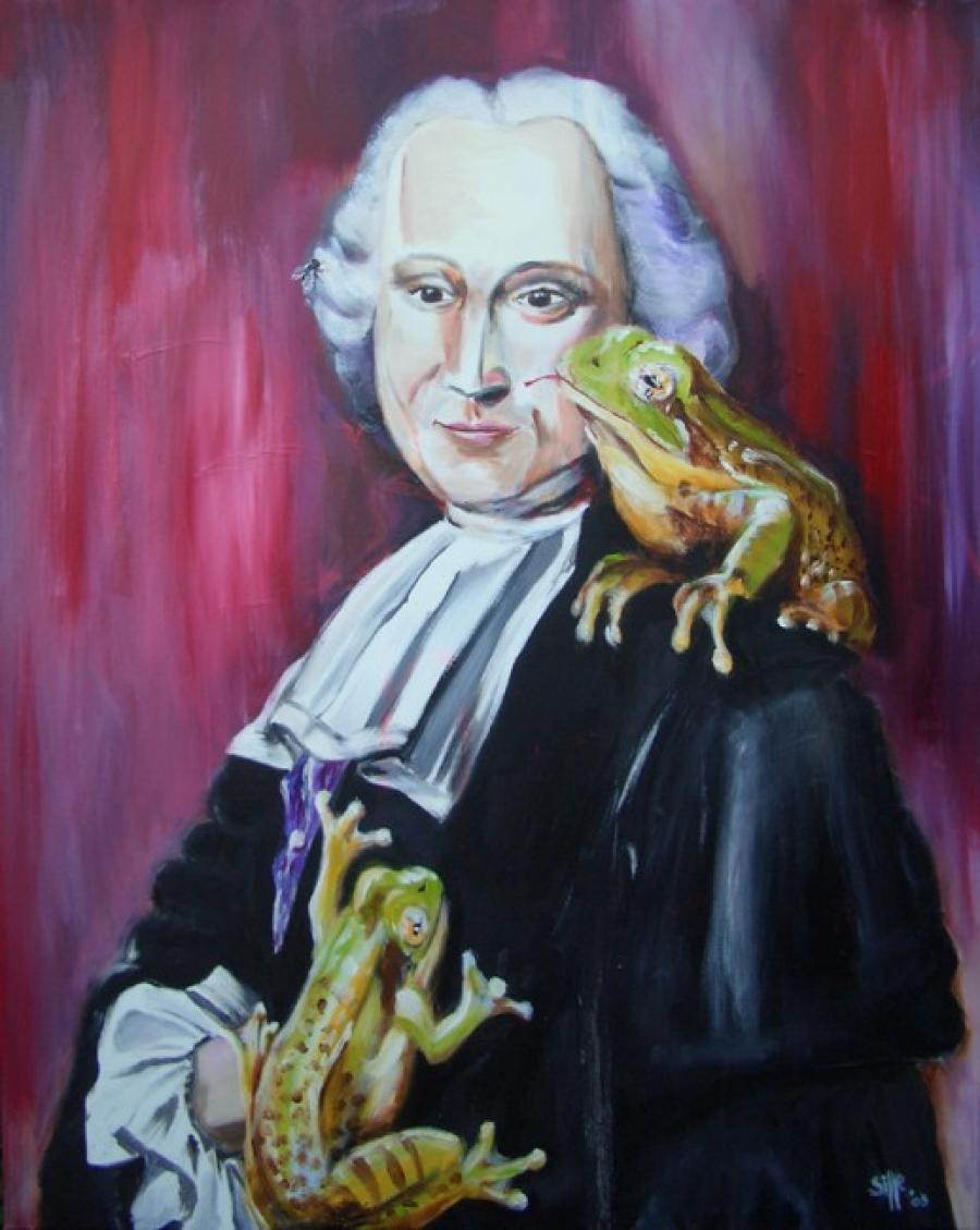 Kunst: Loving frog one van kunstenaar Tamara Sille