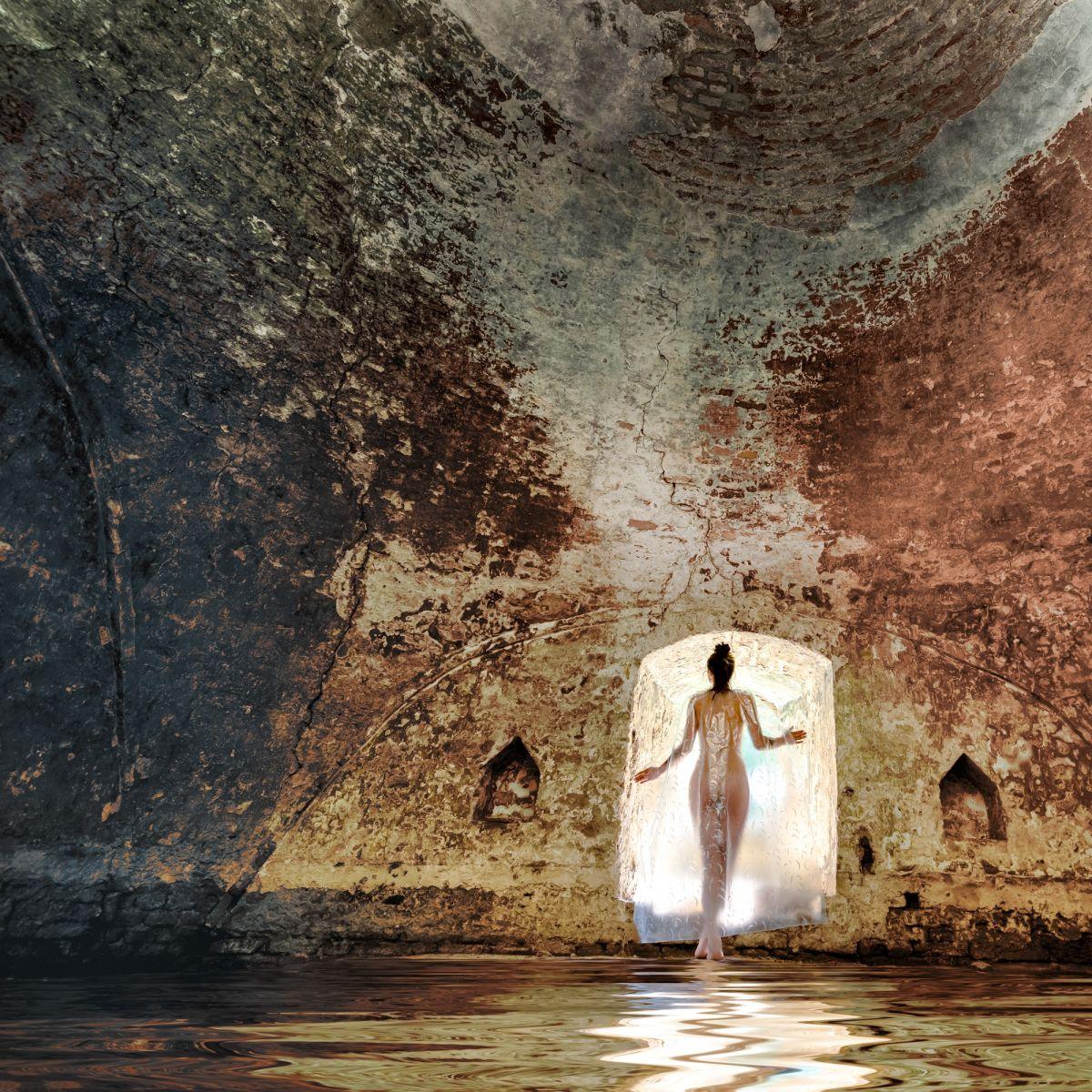 Kunst: Lumière dans l'eau van kunstenaar Barend Houtsmuller