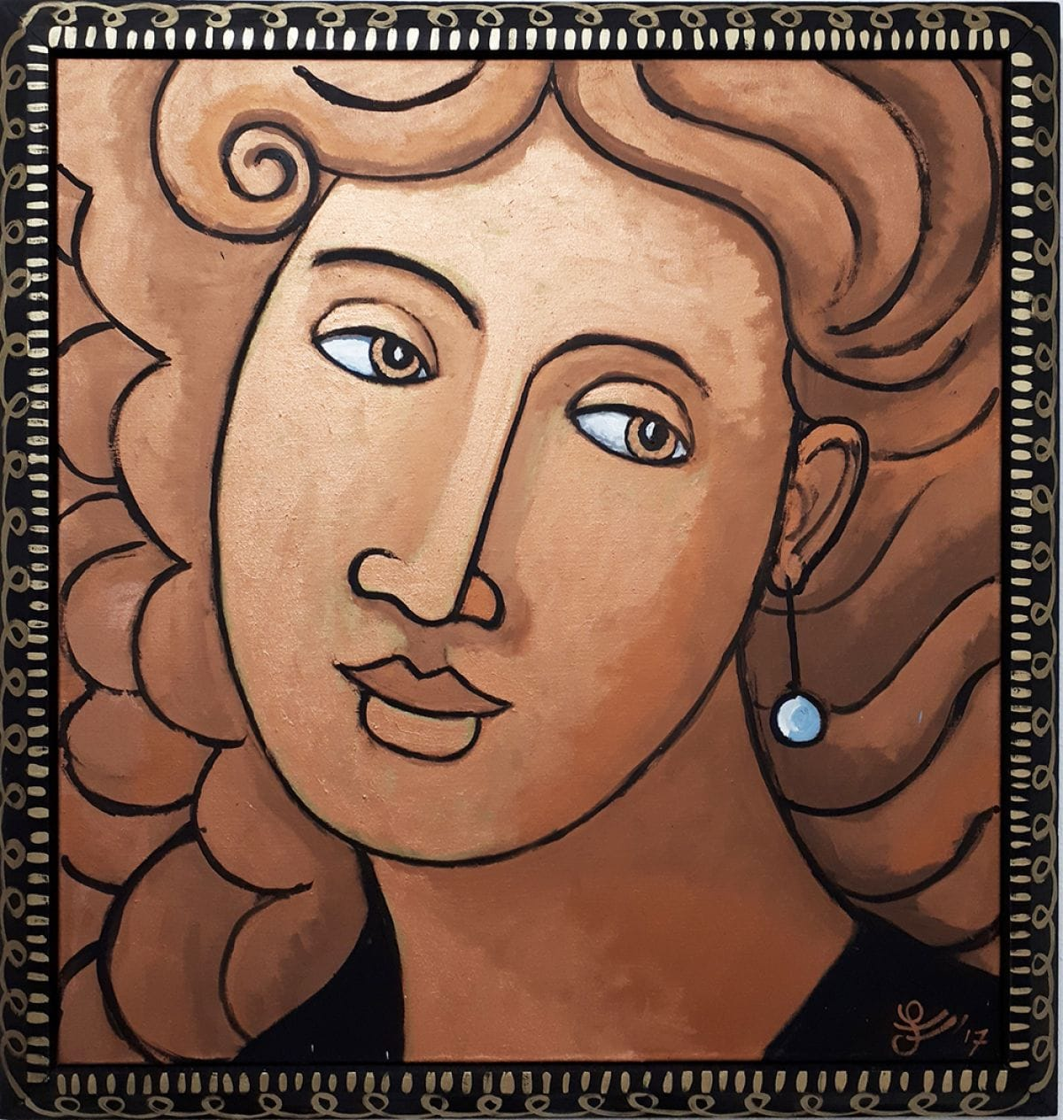 Kunst: Madonna Golden Girl van kunstenaar Jacques Tange