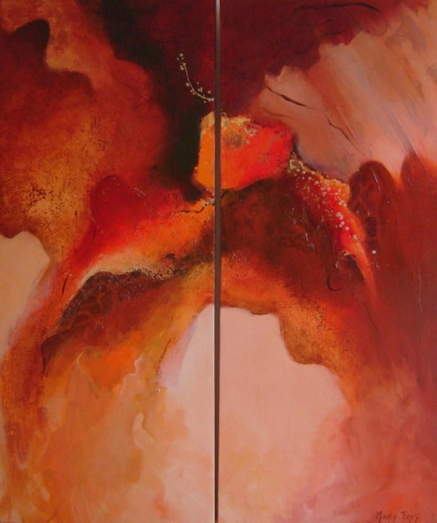 Kunst: Magma 2 van kunstenaar Marly Freij(vergezichten)