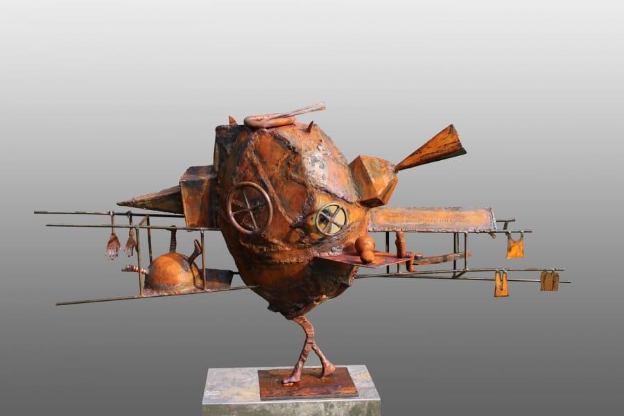 Kunst: Man of Constant Sorrow van kunstenaar Frans Muhren