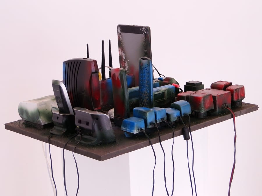 Kunst: Media City van kunstenaar Bert Verboon