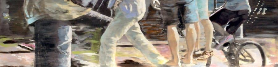 Kunst: Meeting on the square 02 van kunstenaar Lisette Durinck