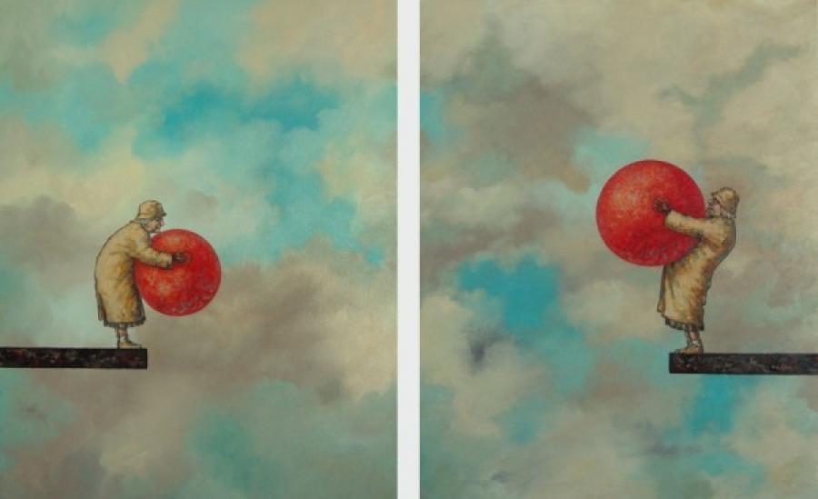 Kunst: Meisjes met ronde vormen van kunstenaar Paddy Spoelder