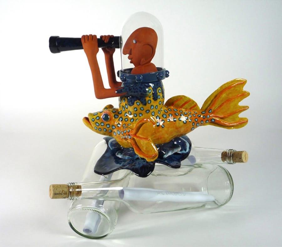 Kunst: Message in a bottle van kunstenaar Margarita van der Velden