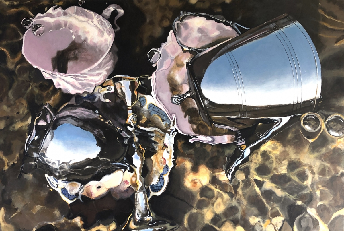Kunst: Metaal in het water van kunstenaar Hannelore Houdijk