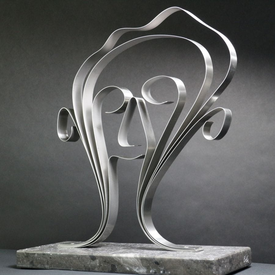 Kunst: Metal Face van kunstenaar Bert Verboon