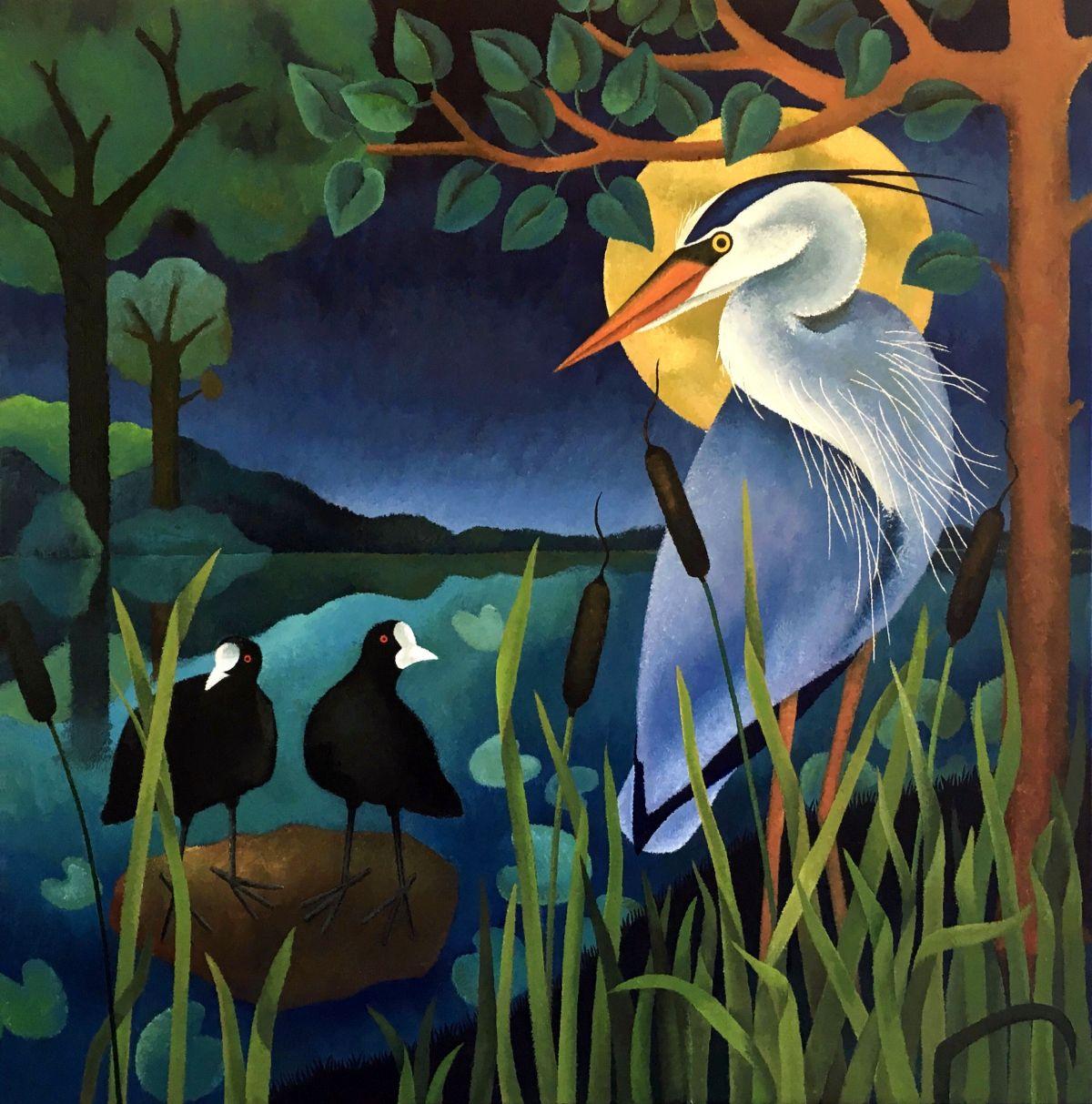 Kunst: Midnight blues van kunstenaar Yvonne Zomerdijk