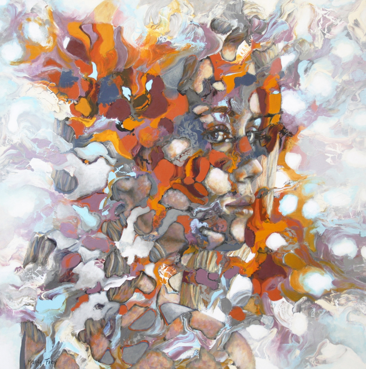Kunst: Mirror, mirror….. van kunstenaar Marly Freij(portretten)