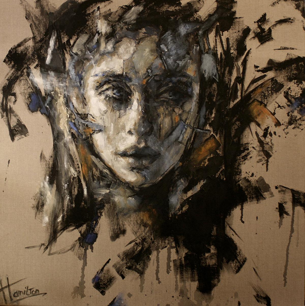 Kunst: Miss you van kunstenaar Evelyn Hamilton