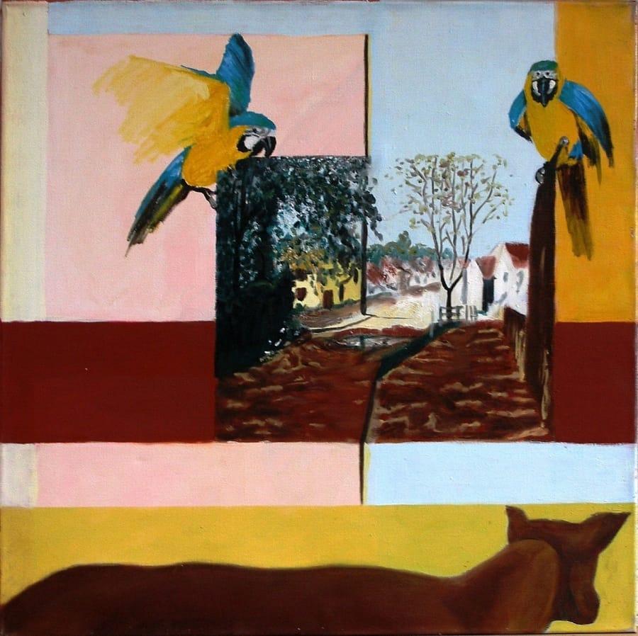 Kunst: mondschilderij van kunstenaar Leo Wijnhoven