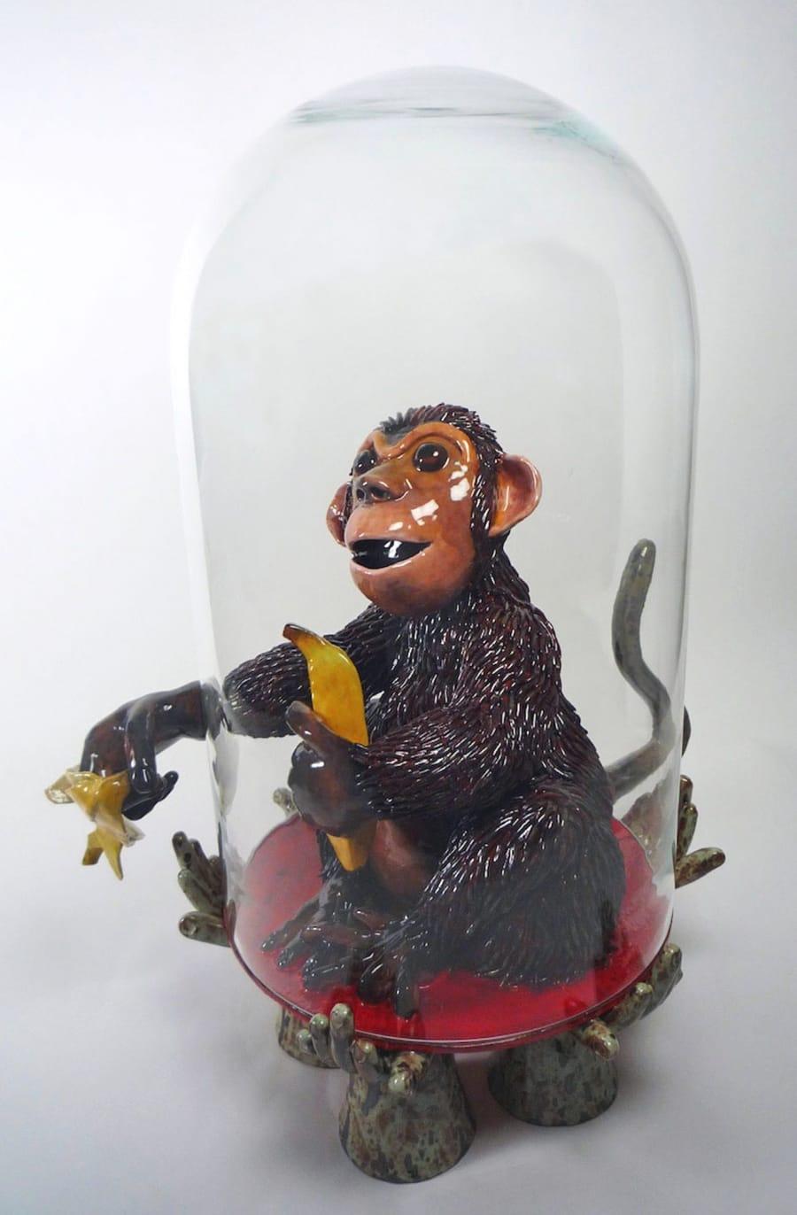 Kunst: Monkey Mind van kunstenaar Margarita van der Velden