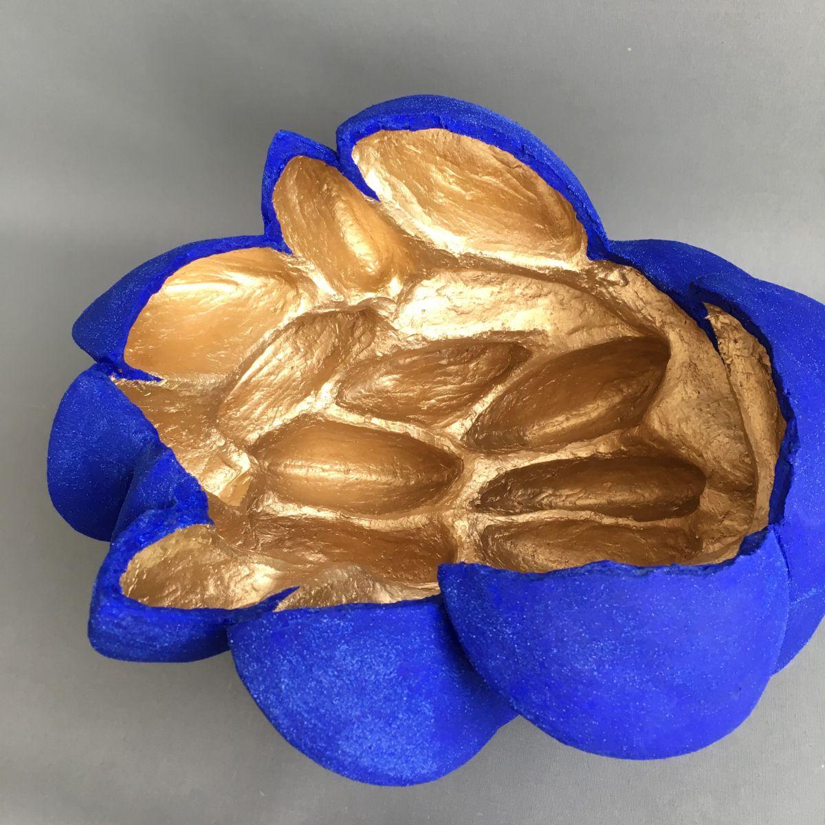 Kunst: Mossels (blue gold) van kunstenaar Jolanda Drukker Murray