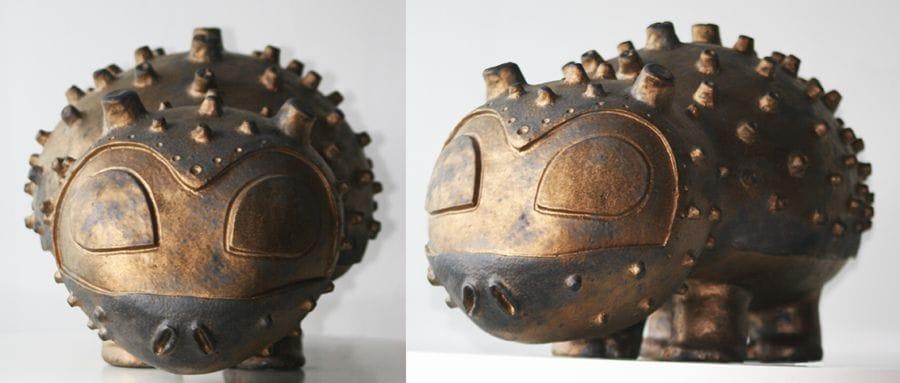 Kunst: Mr. D Tank van kunstenaar Francoise van Schie