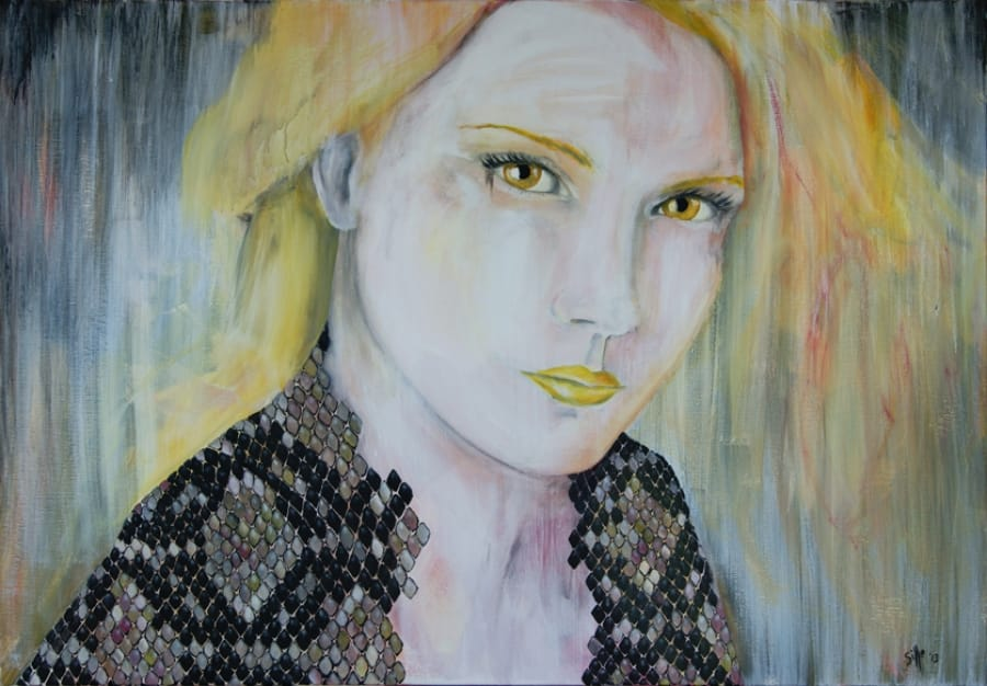 Kunst: Ms. Yellow van kunstenaar Tamara Sille