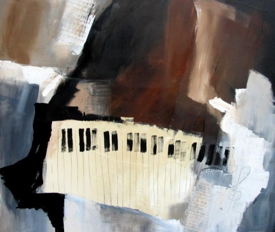 Kunst: music was my first love van kunstenaar Lydia van Domburgh