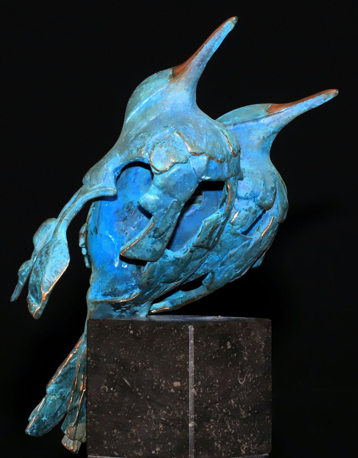 Kunst: Muslukt couple (L219038) van kunstenaar Leny Franken