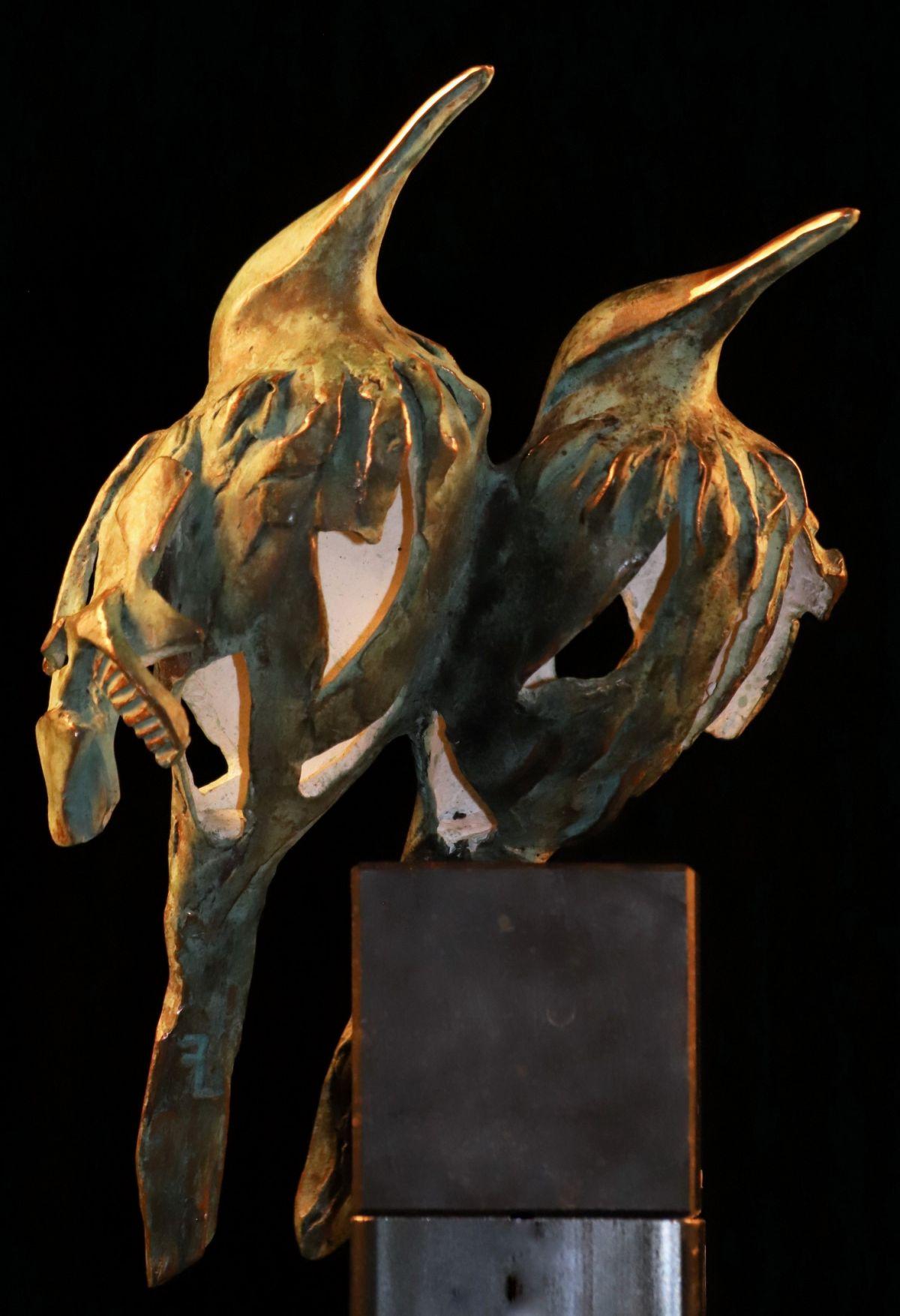 Kunst: Musluktcouple (L218001) van kunstenaar Leny Franken