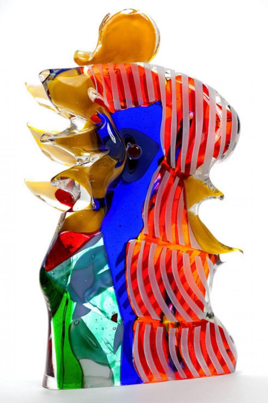 Kunst: My litlle red rooster van kunstenaar Louis la Rooy