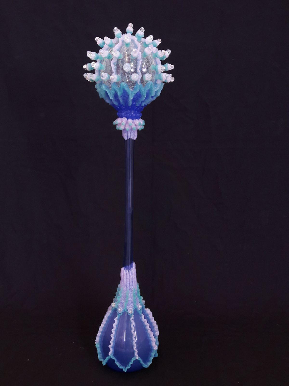 Kunst: Mycetozoa-blue van kunstenaar Janine Schimkat