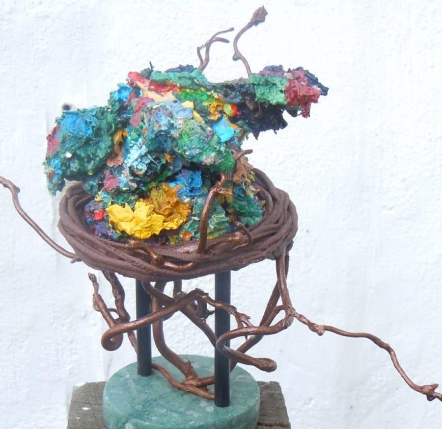 Kunst: nestvlieder van kunstenaar Angenelle Thijssen