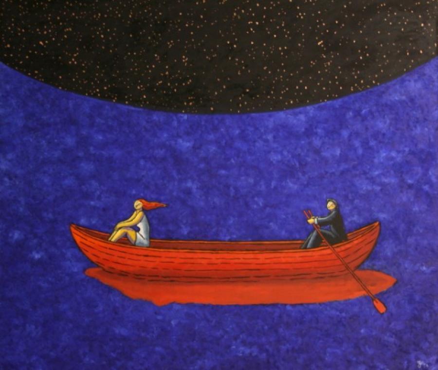 Kunst: Nightfall van kunstenaar Jacques Tange