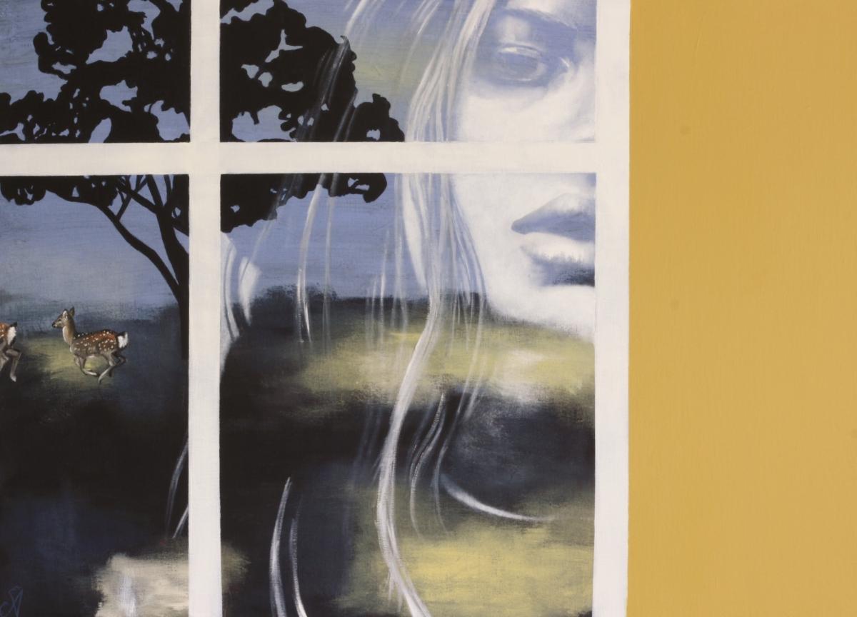 Kunst: Nightfall (Mirror Me) van kunstenaar Angelique-Mathijssen-van-den Bosch