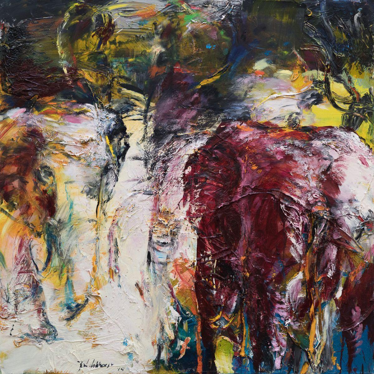 Kunst: Olifanten (DO56) van kunstenaar Jan van Lokhorst