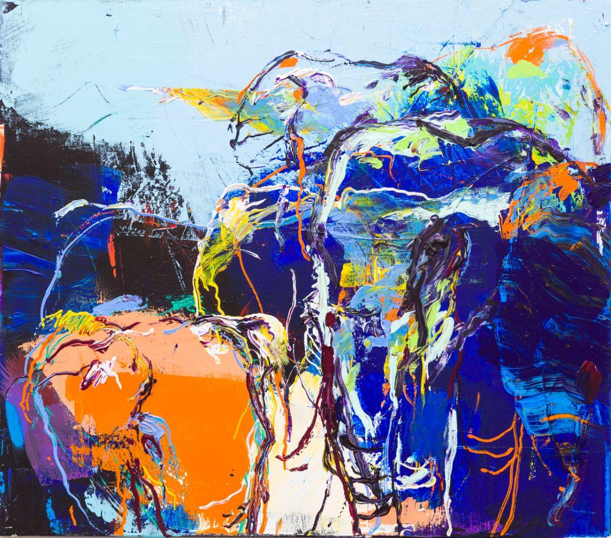 Kunst: Olifanten (DO62) van kunstenaar Jan van Lokhorst