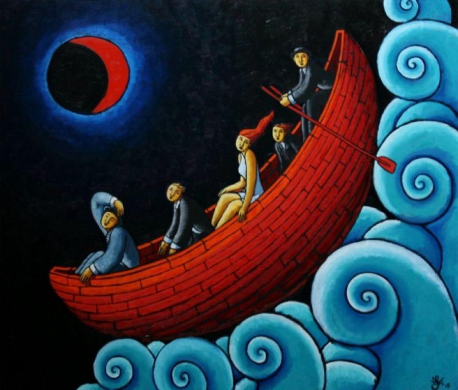 Kunst: On the edge of the world van kunstenaar Jacques Tange