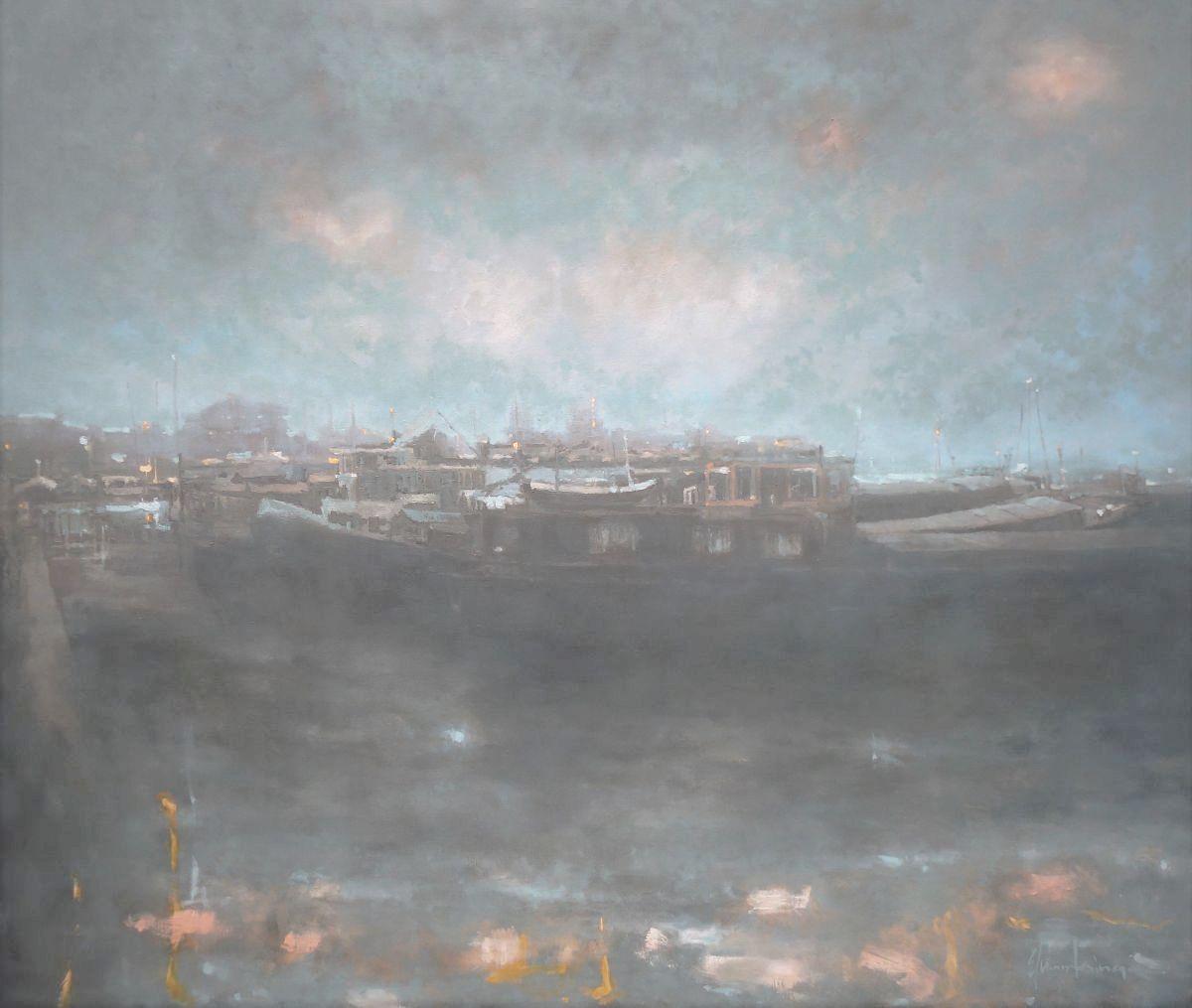 Kunst: Oosterdok Amsterdam van kunstenaar Erik-Jan Vaandering