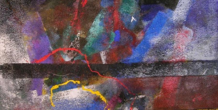 Kunst: op stof 7 van kunstenaar Koeno Jansen