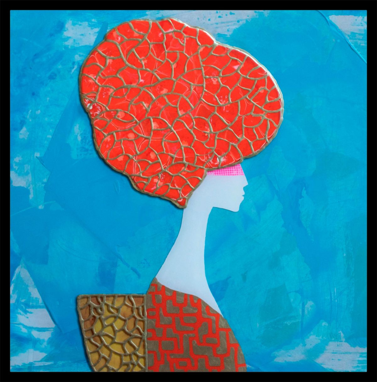 Kunst: Orange Amedea van kunstenaar  Beddru
