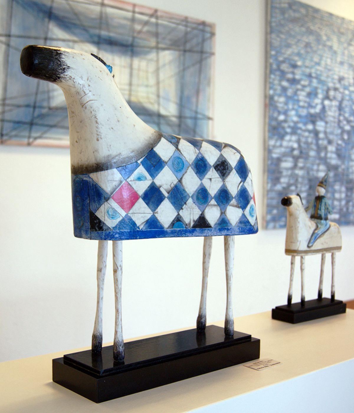 Kunst: Paard met ruitendek van kunstenaar Aad de Wit